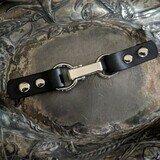 CORDOBA LATCH SCREW IN LEATHER CLOSURE BLACK