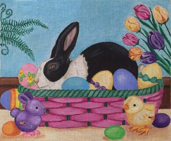 Easter Rabbit Basket EA78