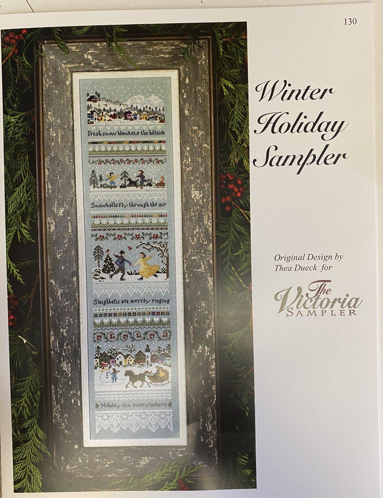 Winter Holiday Sampler 130 Victoria Samplers