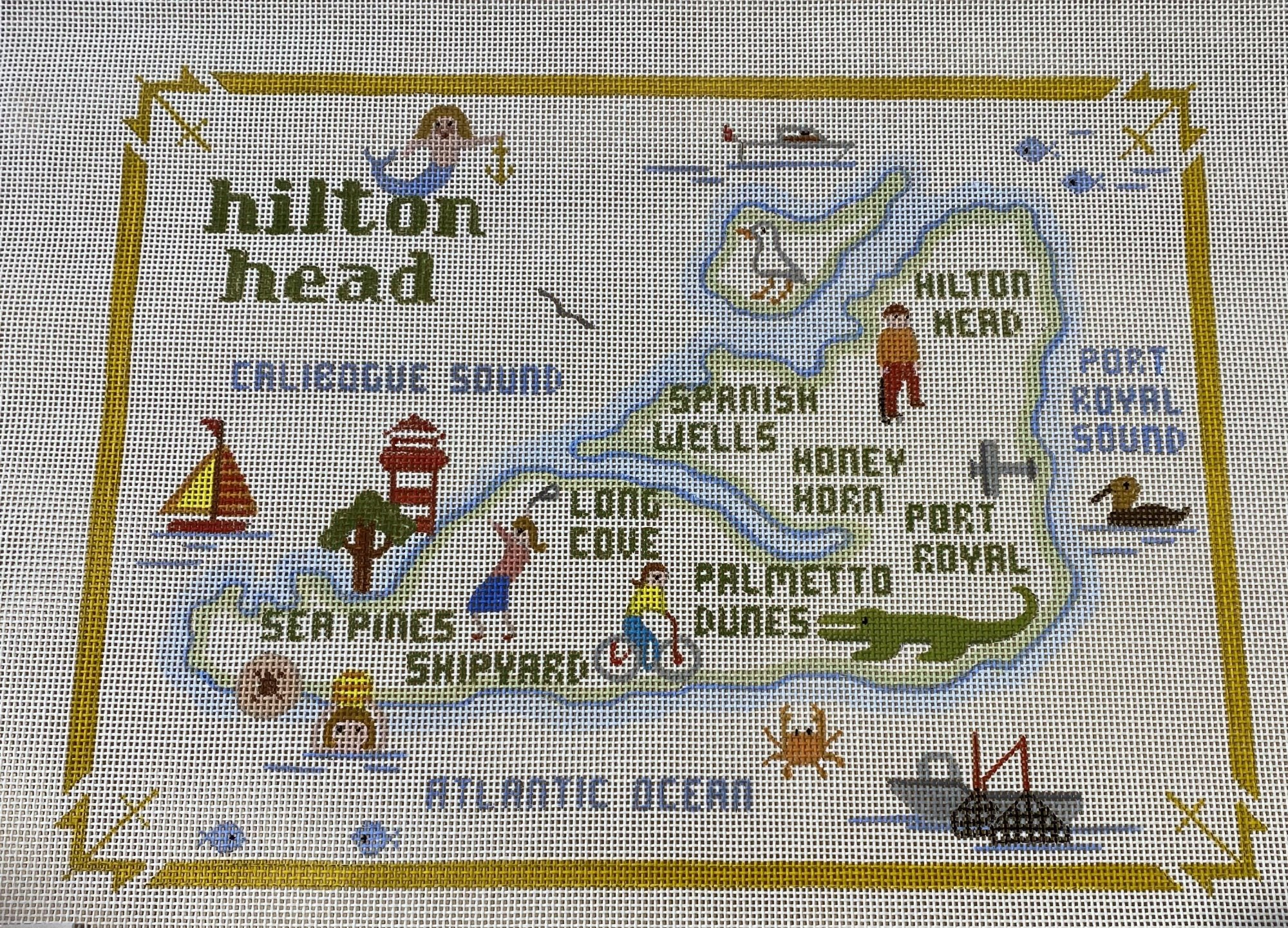 Annie Lee Hilton Head Island Map large