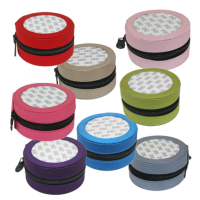 Small Round Silk Jewelry Boxes