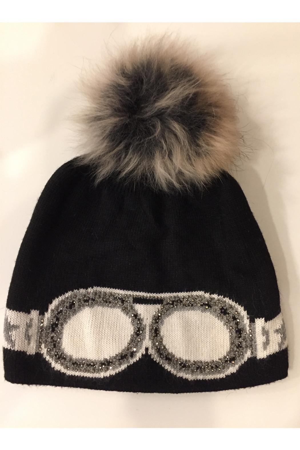 Glitter Goggles Winter Pom Hat