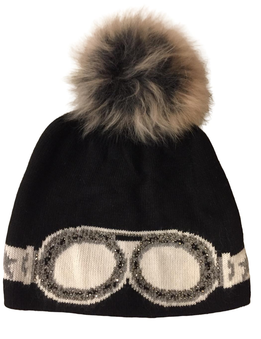 Glitter Goggles Winter Pom Hat