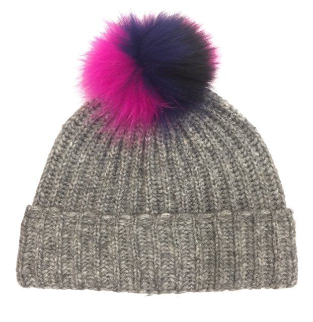 Two Tone Pom Winter Hat