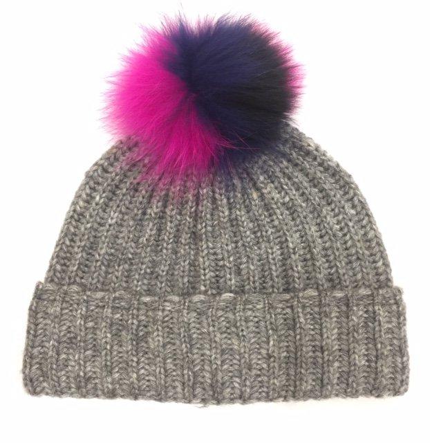 Two Tone Pom Winter Hat