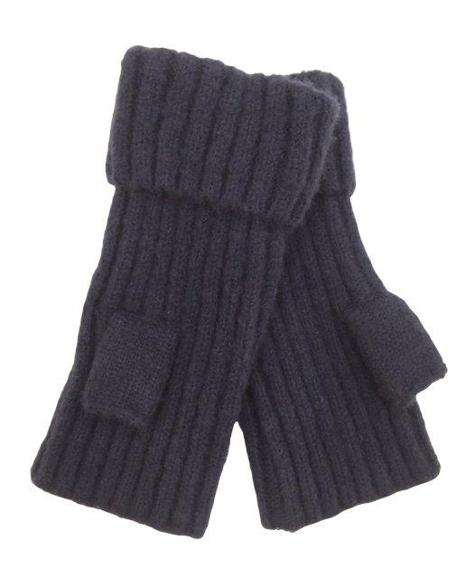 Fingerless Rib knit Glove