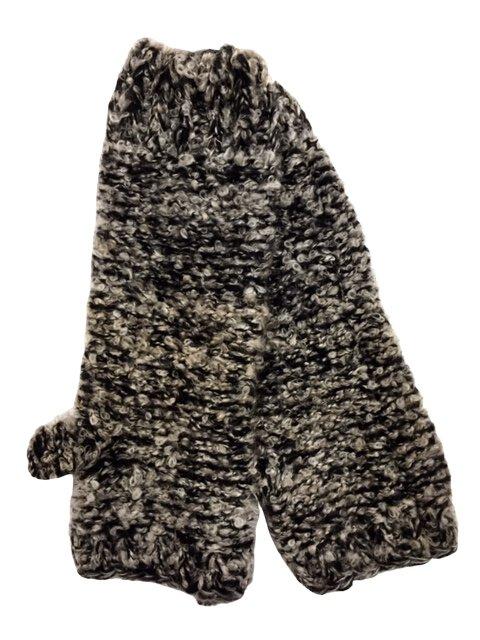 Marled Knit Fingerless Gloves