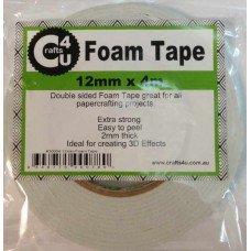 Crafts 4 U Foam Tape 12mm x 4m