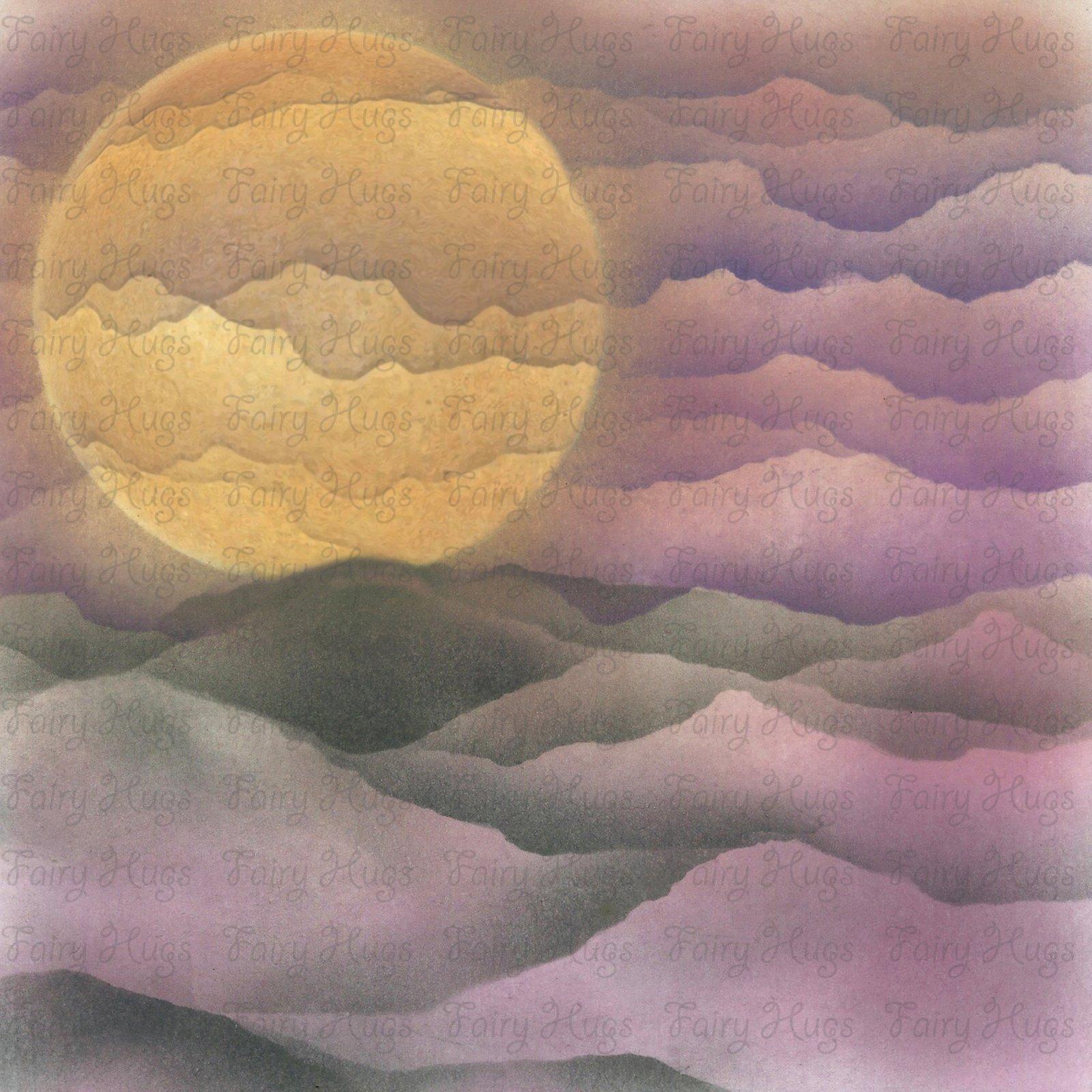 PRE ORDER Fairy Hugs - Fairy-Scapes - 6 x 6 - Purple Glow Sphere