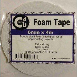 Crafts 4 U Foam Tape 6mm x 4m (2mm thick)
