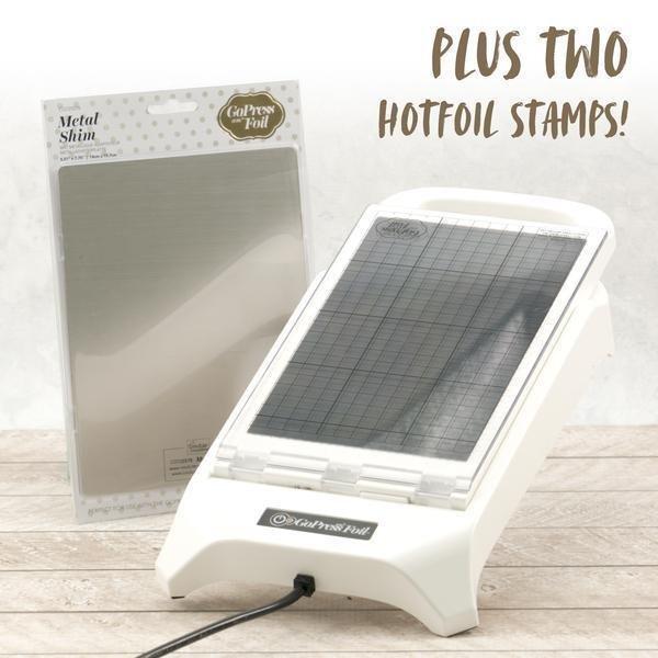 GoPress & Foil + Metal Shim + 2 hotfoil stamps