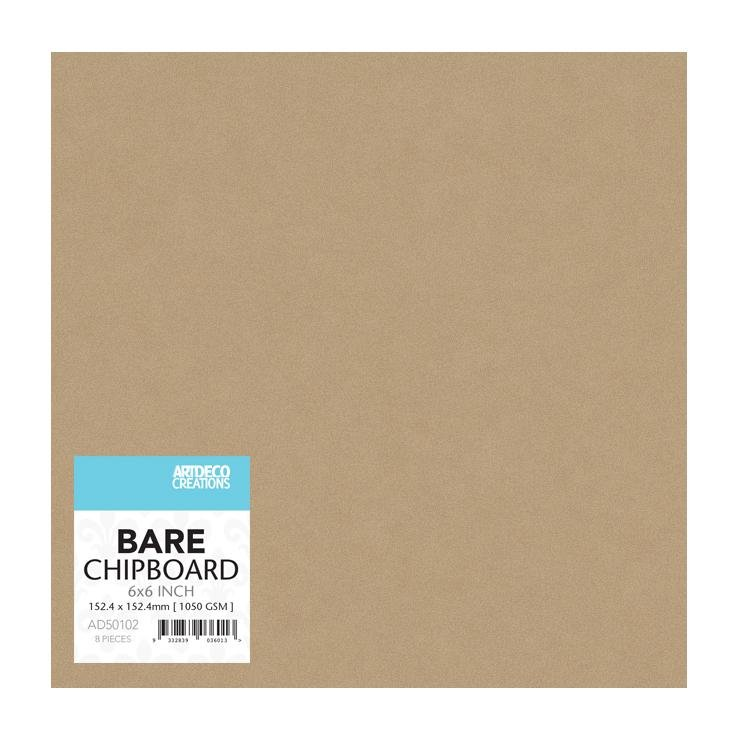 Bare Chipboard - 150mm x 150mm | 6 x 6in - 8 pc