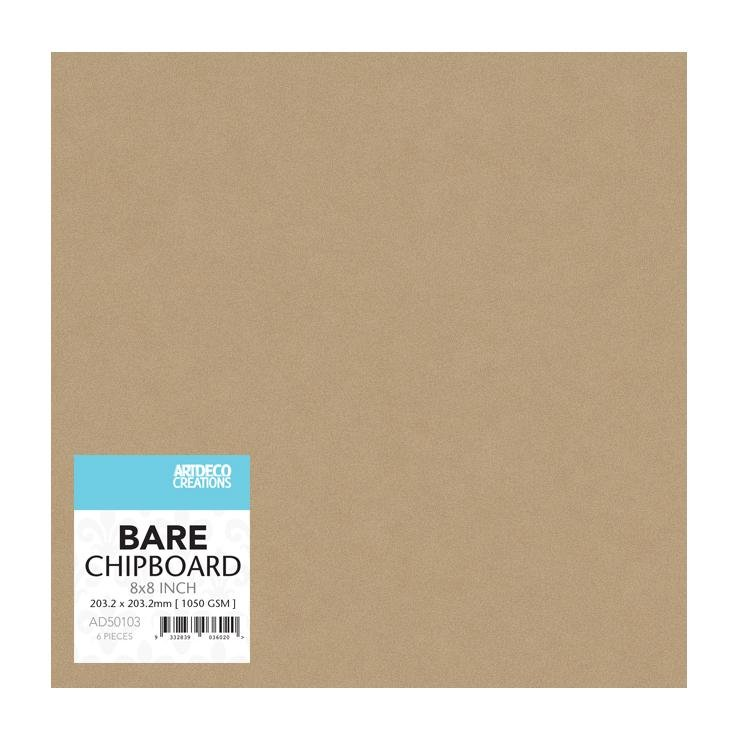 Bare Chipboard - 200mm x 200mm   8 x 8in  - 6pc