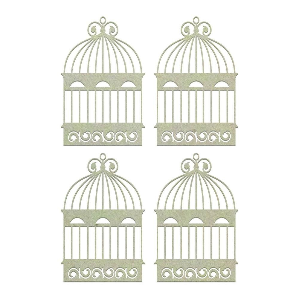 Chipboard - CO - Flourished Cages Set (4pc)