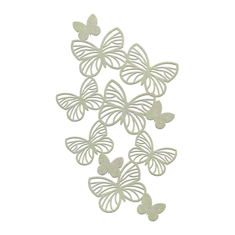 Chipboard - CO - Butterfly Border (1pc)