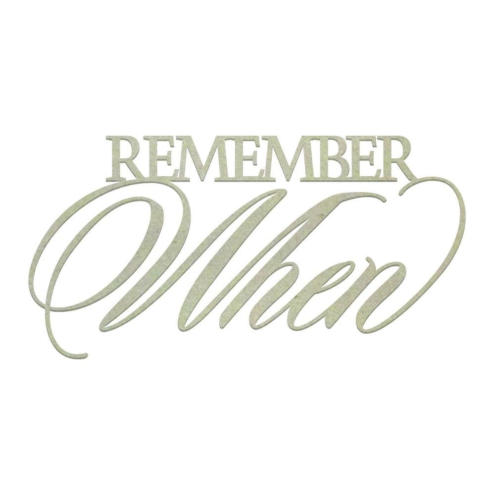 Chipboard - CO - Remember When (1pc)