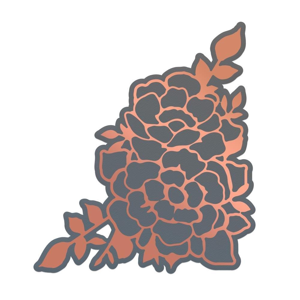 Cut & Foil Die - Lavish Ballroom - Cornered Roses - 59 x 67mm | 2.3 x 2.6in