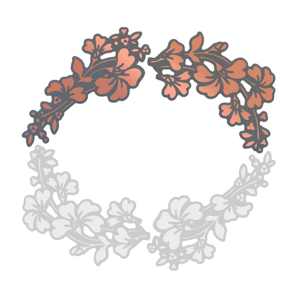 Cut & Foil Die - LB - Sweeping Botanicals - 64x73mm, 42x85mm   2.5x2.8in, 1.6x3.3in
