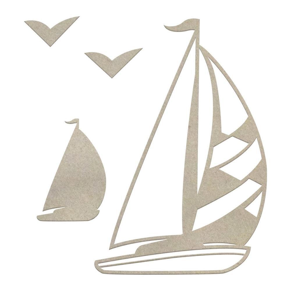 Chipboard - Boys - Sailboat Set (4pc)