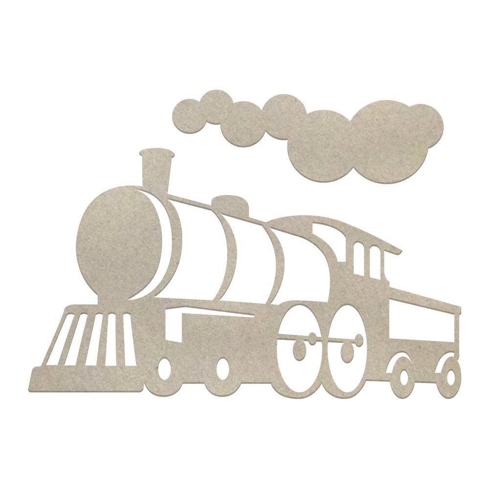 Chipboard - Boys - Locomotive Set (3pc)