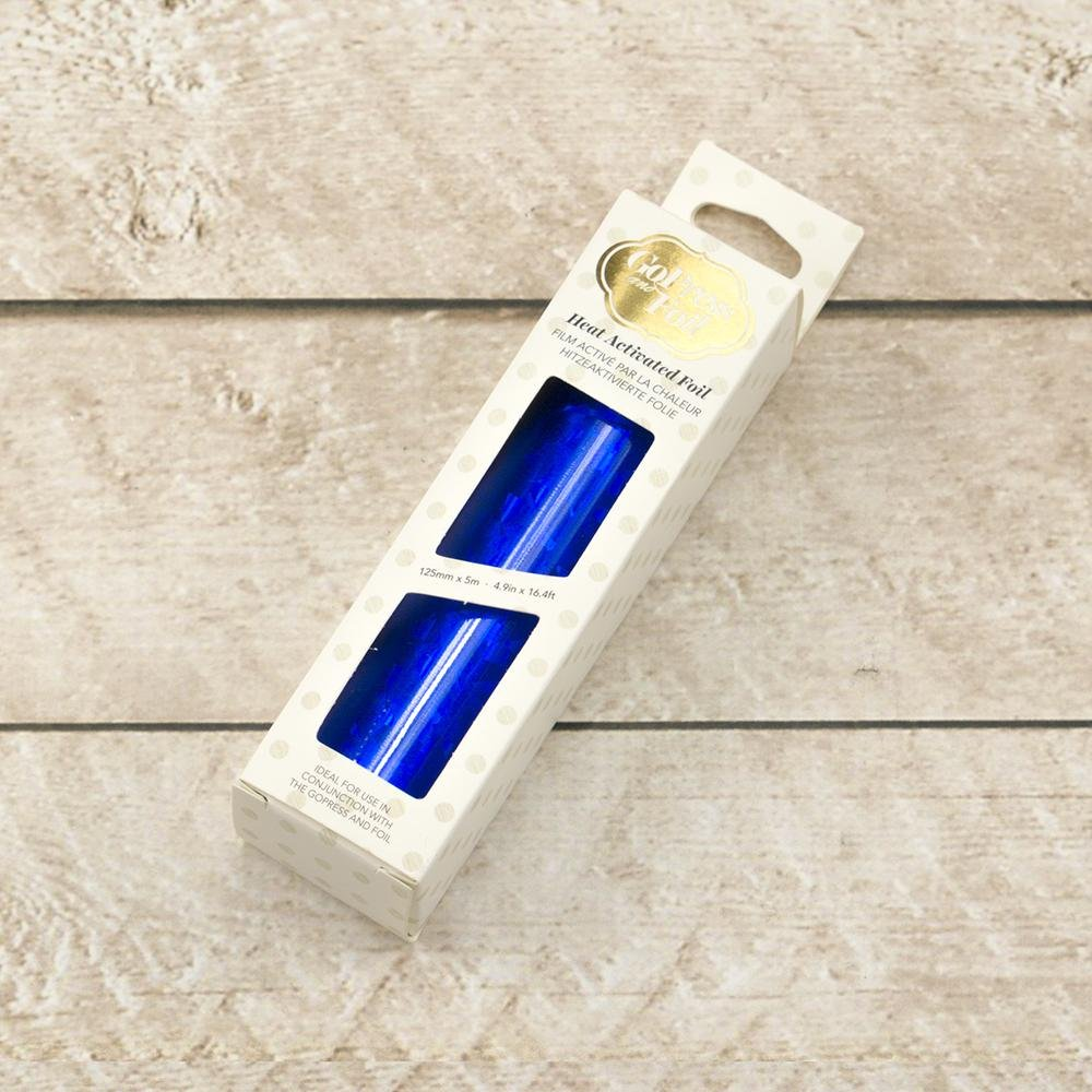 Foil - Blue (Iridescent Triangular Pattern) - Heat activated