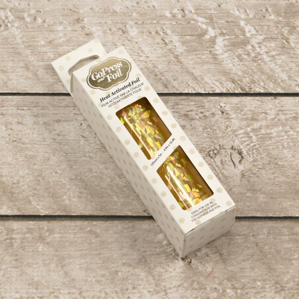 Foil - Gold  (Iridescent Triangular Pattern) - Heat activated