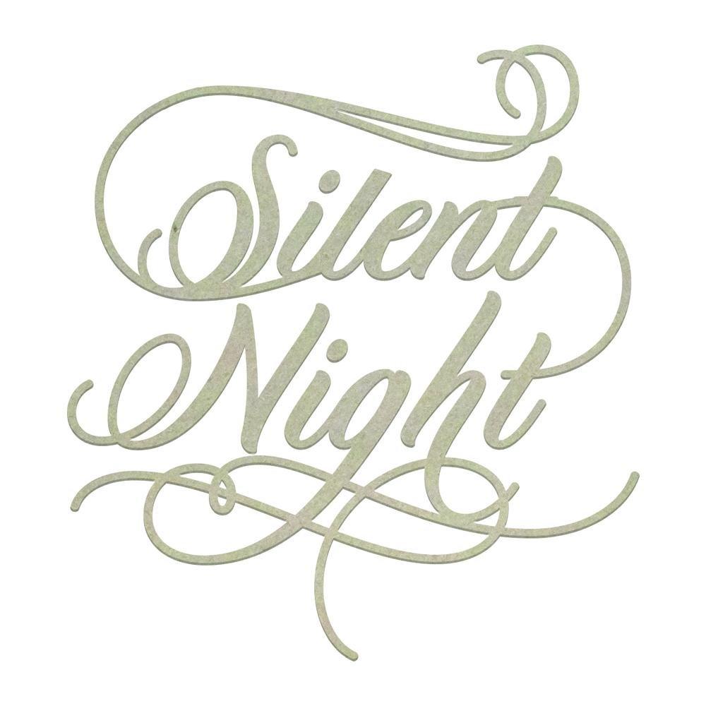 Chipboard - Christmas - Silent Night Sentiment (1pc)
