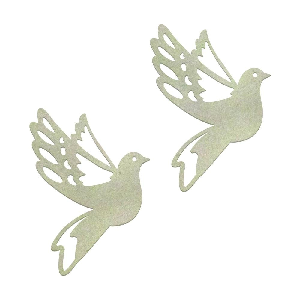 Chipboard - Christmas - Christmas Doves (2pc)