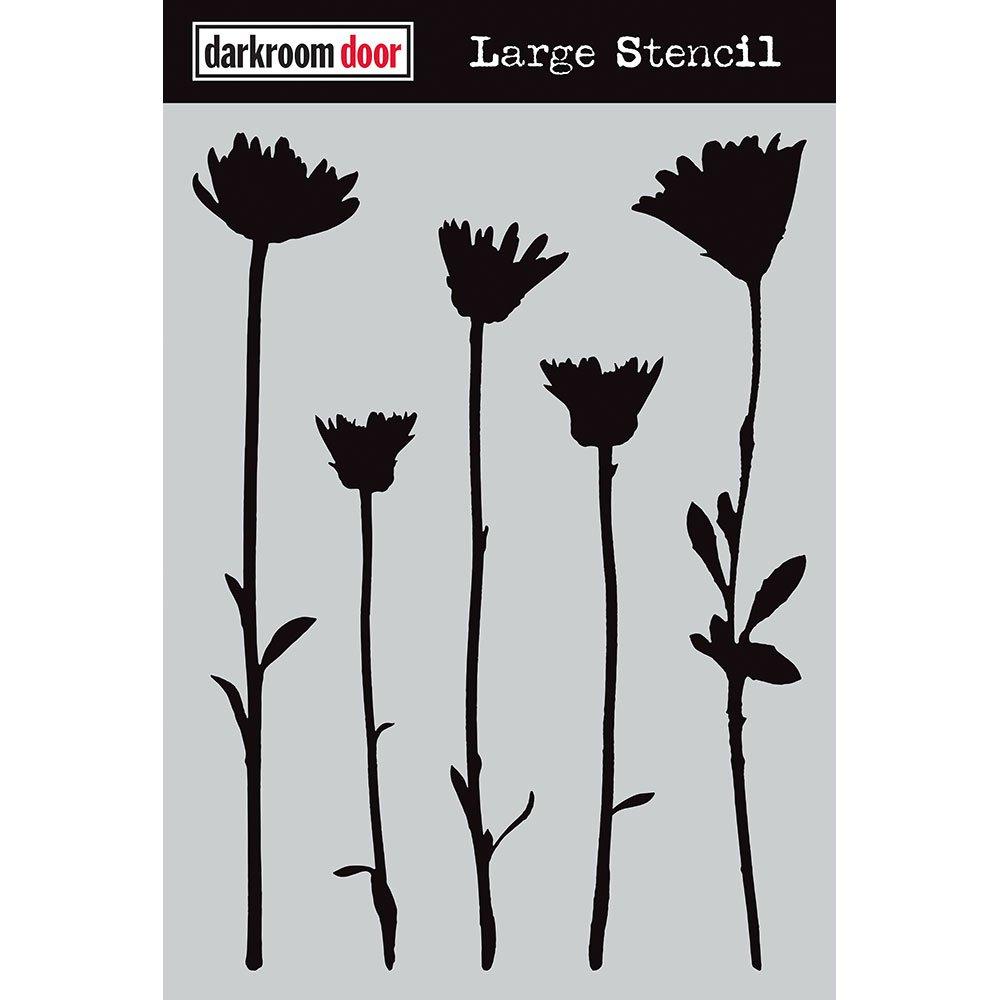 Darkroom Dorr Large Stencil - Wildflowers