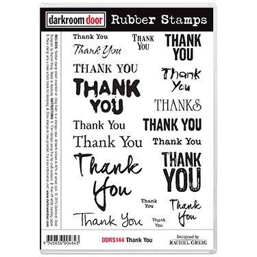 Darkroom Door Rubber Stamp - Thank You