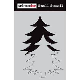 Darkroom Door Small Stencil 4.5 x 6 - Christmas Tree Set