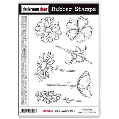 Darkroom Door Rubber Stamp Set - Fine Flowers Vol 2