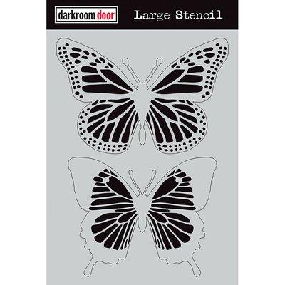 Darkroom Door Large Stencil - Butterflies