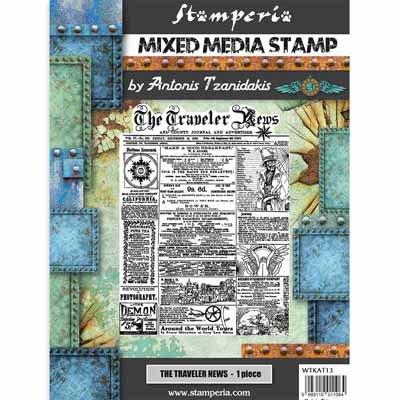 Stamperia Stamp 15x20cm Sir Vagabond The Traveler News