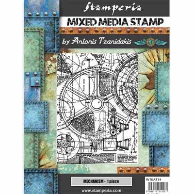 Stamperia Stamp 15x20cm Sir Vagabond Mechanism
