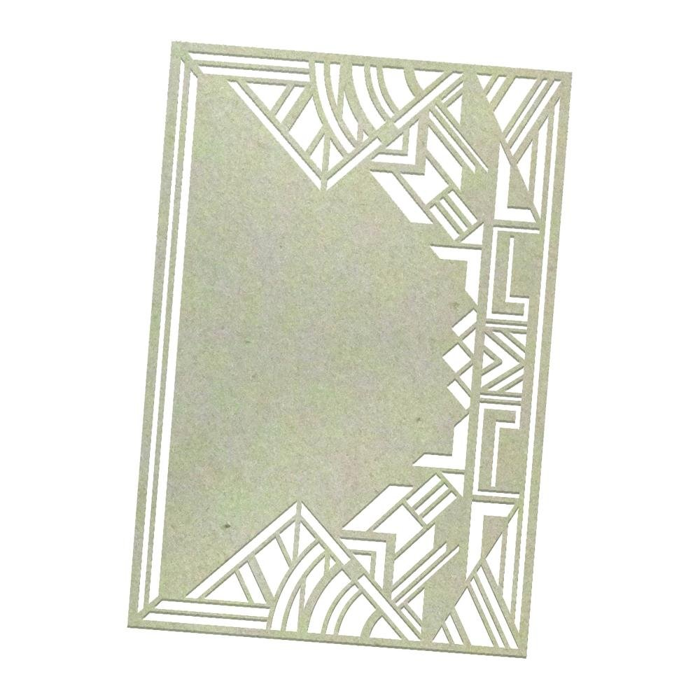 Chipboard - Art Deco Background (1pc) - 132 x 90mm   3.5 x 5.1in
