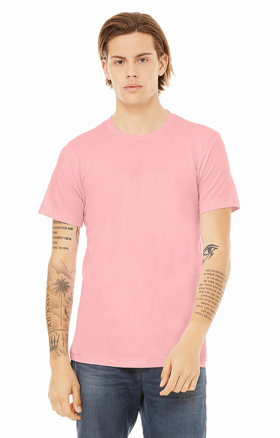Bella Canvas PINK Soft Style Unisex Jersey T-Shirt