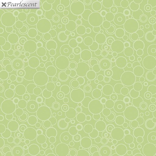 Fat Quarter CIRCLES GREEN Lilyanne 18 x 22 fabric