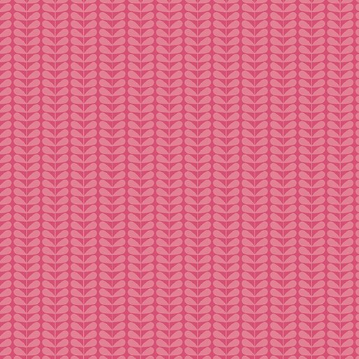 Fat Quarter TONAL SPROUT STRIPE PINK Planted With Love 18 x 22 fabric