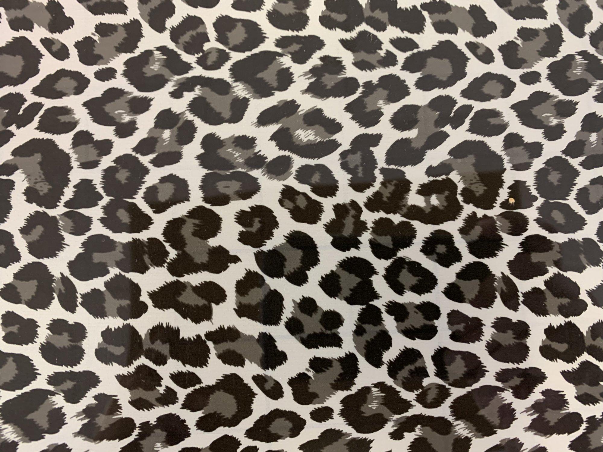 HTV Metallic Leopard Silver Vinyl