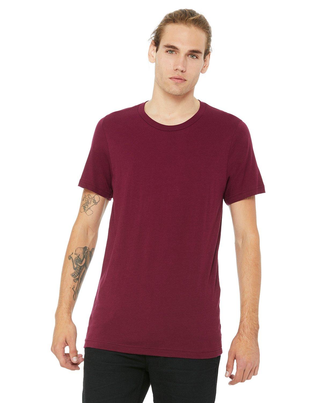 Bella Canvas MAROON Soft Style Unisex Jersey T-Shirt