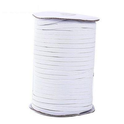 White Spandex 1/4 inch elastic - 273 yard roll