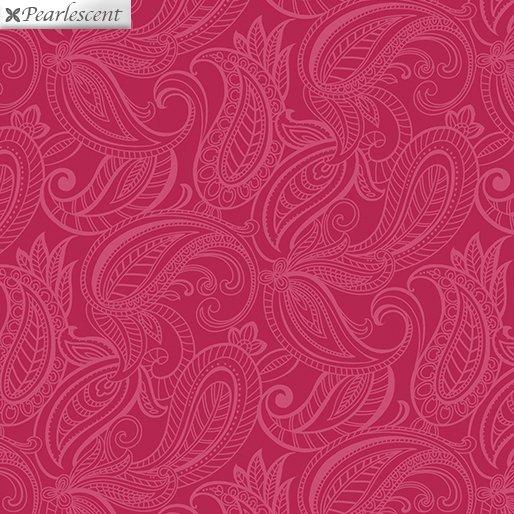 Fat Quarter PAISLEY LILY TONAL DARK PINK Lilyanne 18 x 22 fabric