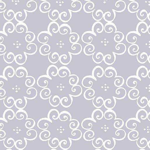 Fat Quarter FLOWER SCROLL GRAY Social Butterfly 18 x 22 fabric