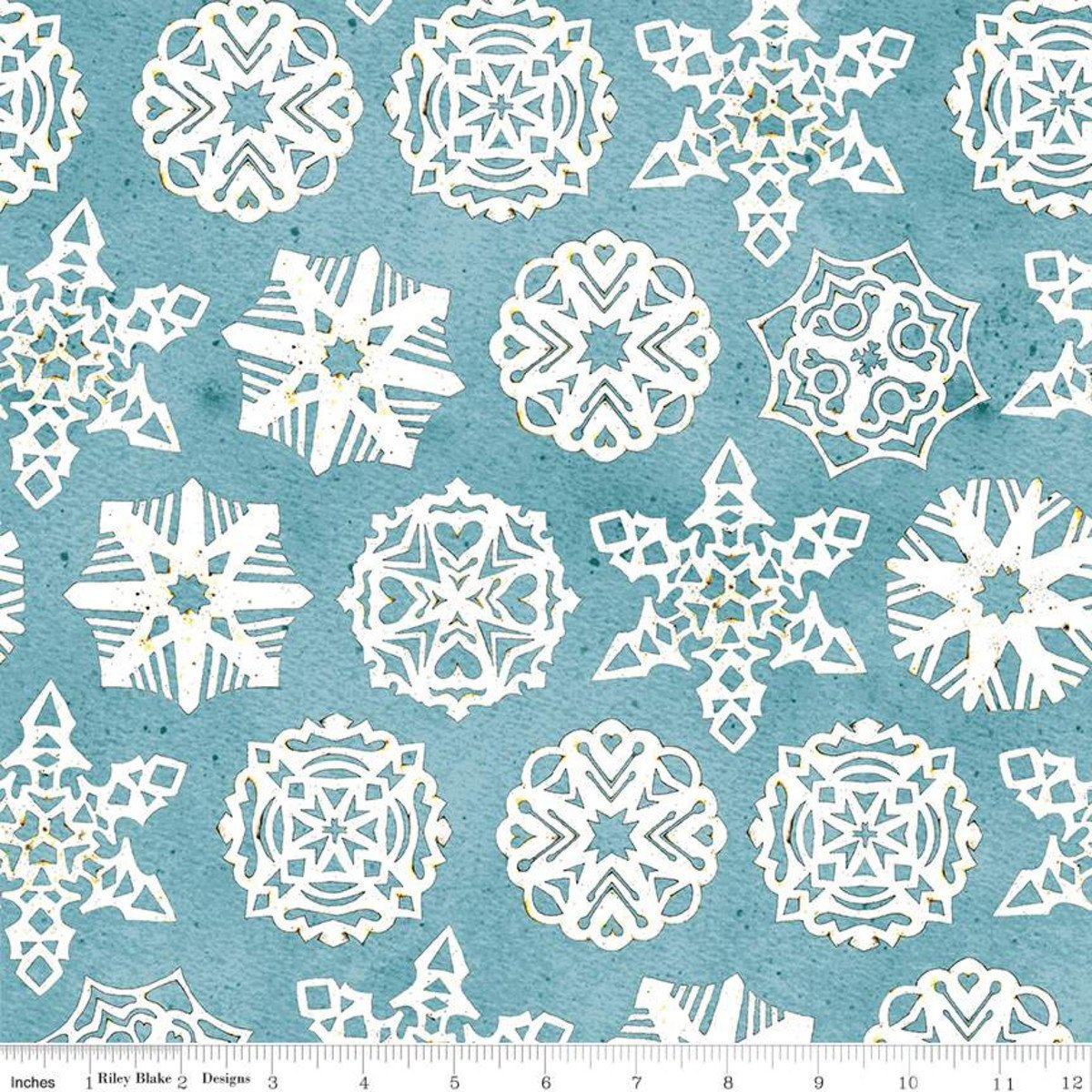 Snow Sweet PAPER SNOWFLAKES BLUE Fat Quarters 18 x 22 in