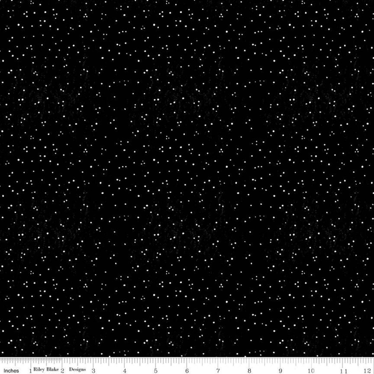 Snow Sweet SUGARY SNOW DOTS BLACK Fat Quarters 18 x 22 in