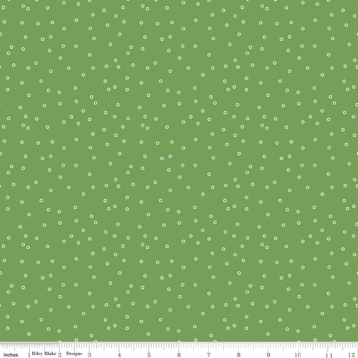 Fat Quarter CIRCLES CLOVER Prim Cotton Riley Blake Fabric