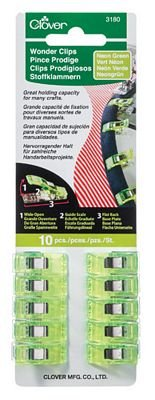 Wonder Clips Neon Green 10 count CL3180
