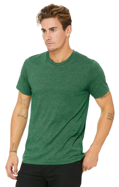 Bella Canvas Heather GRASS GREEN Soft Style Unisex T-Shirt