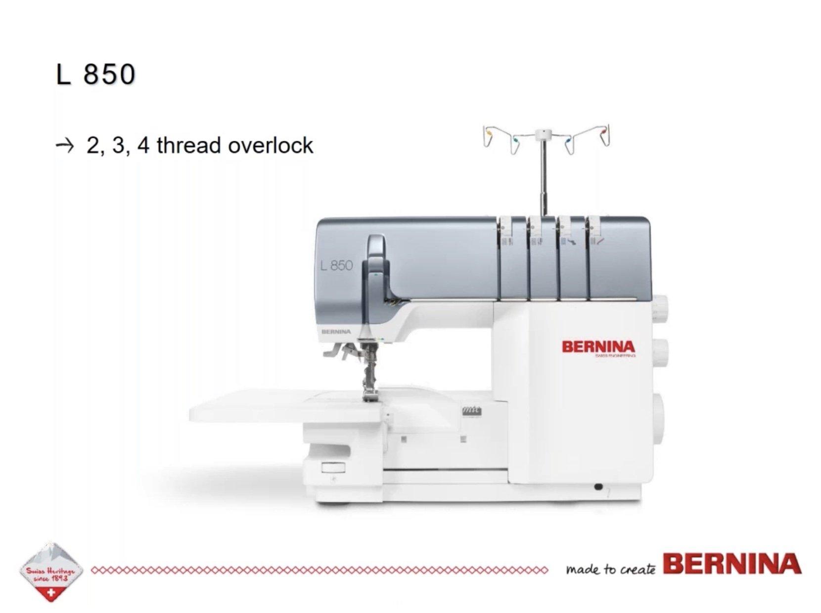 Bernina L 850 Air Thread Serger Overlocker